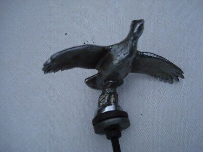 Lejeune Vintage Chrome Plated Flying Bird Car Mascot