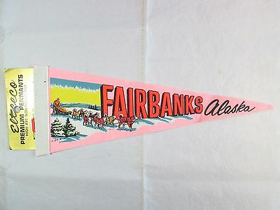 Vintage FAIRBANKS Alaska Pennant Flag