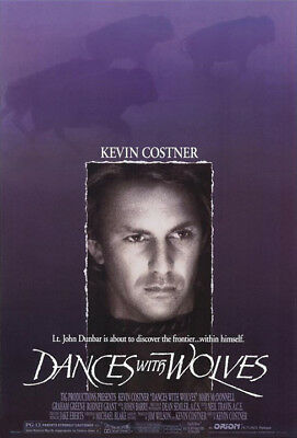 Dances With Wolves (1990) movie poster reproduction single-sided rolled