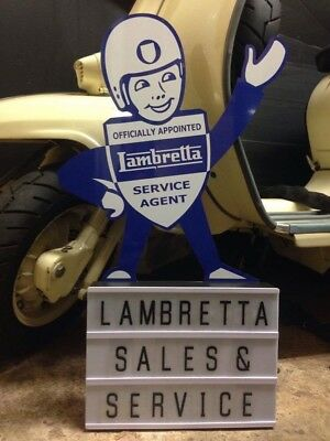 Lambretta Lightbox Man Workshop Man Cave Christmas Gift