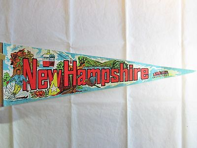 Vintage ECHO LAKE, New Hampshire Pennant Flag