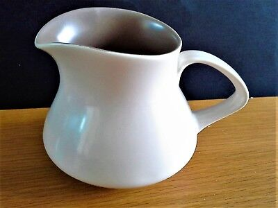 A POOLE TWINTONE Milk Jug in the Lovely Mushroom & Sepia Colourway