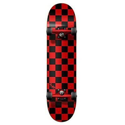 YOCAHER Blank Complete Skateboard 7.75-Skateboards Checker Red