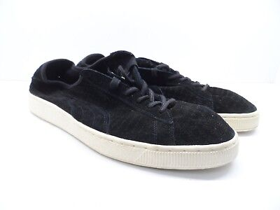 4a8ec40bc0 Puma Men's Courtside Perf Suede Casual Athletic Shoes Black Size 13M
