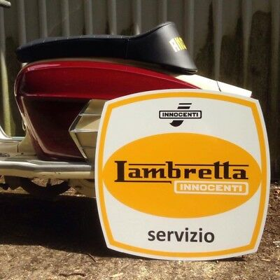 Lambretta Servizio Sign Workshop Man Cave Christmas Gift