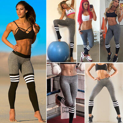 Womens Sports Gym Yoga Workout High Waist Running Pants Fitness Exercise Legging