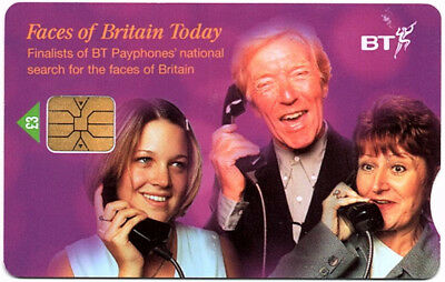 2002 BT Phonecard, Faces of Britain Today, £3 used (PC104)
