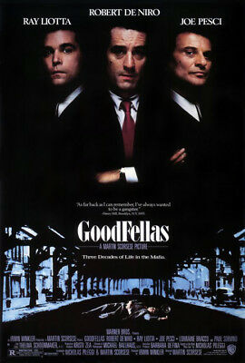 GoodFellas (1990) movie poster reproduction single-sided rolled