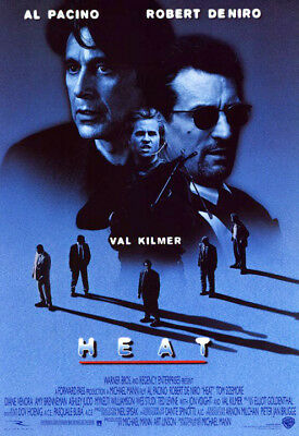 Heat (1995) movie poster version B reproduction single-sided rolled