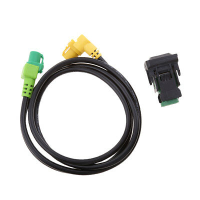 Car USB AUX Audio Cable Switch Socket with Cable for VW Golf MK5 MK6 Jetta