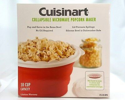 Cuisinart Collapsible Microwave Popcorn Maker - Red - 10 cups
