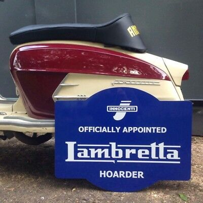 Lambretta Hoarder Sign Workshop Man Cave Christmas Gift
