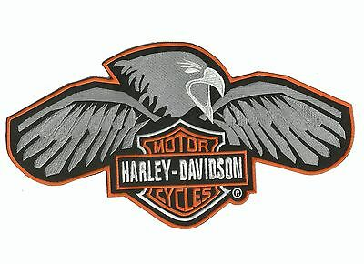 Harley classic with Engle logo large patch -  Harley Davidson Motorcycle Patch