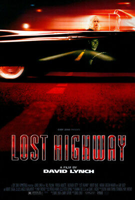 Lost Highway (1997) movie poster intl reproduction version B single-sided rolled