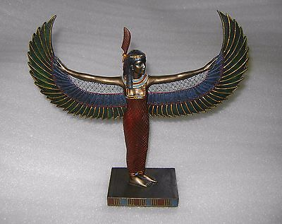 2003 Veronese Isis Winged Feather Standing Goddess Figure Sculpture Statue