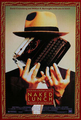 Naked Lunch (1991) original movie poster double-sided rolled