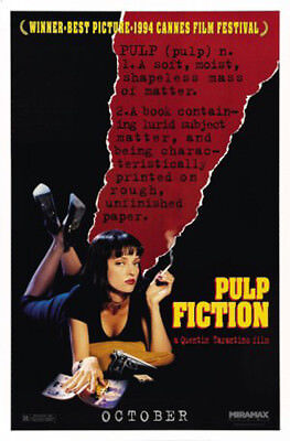 Pulp Fiction (1994) movie poster advance B reproduction single-sided rolled