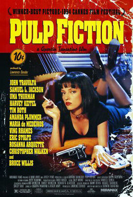 Pulp Fiction (1994) movie poster reproduction single-sided rolled
