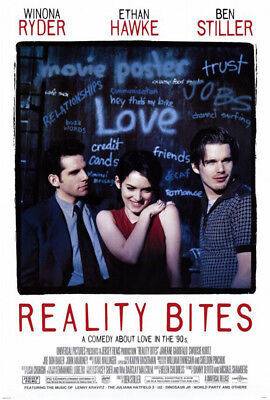 Reality Bites (1994) movie poster reproduction single-sided rolled