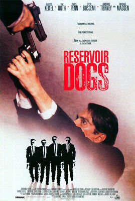 Reservoir Dogs (1992) movie poster video reproduction single-sided rolled