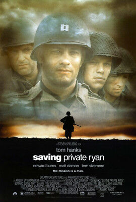 Saving Private Ryan (1998) movie poster version B reproduction d-sided rolled