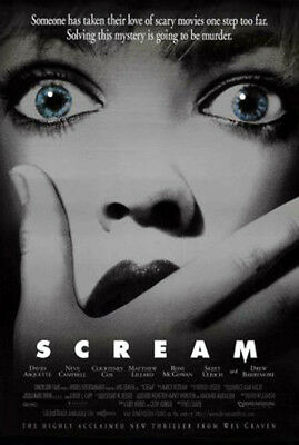 Scream (1996) movie poster reproduction single-sided rolled