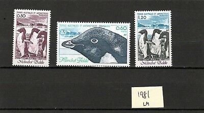 FRENCH Antartic Terr. 1981  Birds issue  LM MINT
