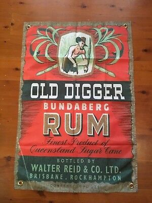 3x2 ft bundaberg rum USED bundy rum mancave flags shed poolroom wall hanging