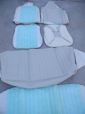 NOS 1970-72 Volkswagen Beetle Front & Rear Padded Seat Covers OFF-WHITE VW Bug