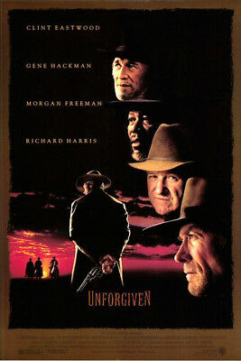 Unforgiven (1992) original movie poster single-sided rolled
