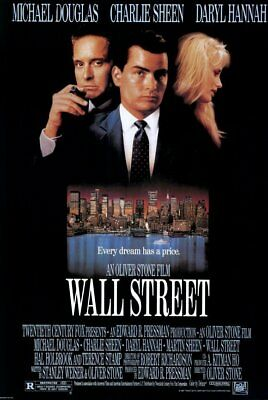 Wall Street (1987) movie poster reproduction single-sided rolled