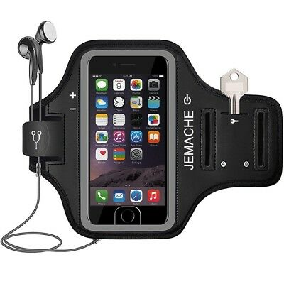 iPhone 7 Plus Armband, JEMACHE Fingerprint Touch Supported Running Exercise Gym