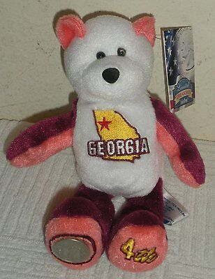 "New w/ Tags Limited Treasures 8"" Plush Beanbag STATE COIN BEAR, GEORGIA"