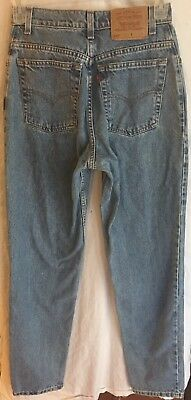 Vintage Levis 550 Womens Mom Jeans Relaxed Fit Size 8 Long High Waisted Tapered