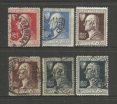 Italy ~ 1927 Death Centenary Of Volta (Set)