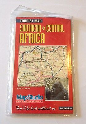 Southern and Central Africa Tourist Map - 2005 - 1st Edition - in plastic sleeve