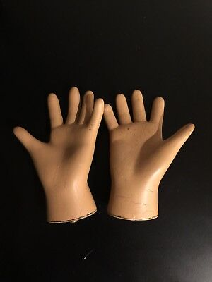 Rare Vintage Childs Mannequin Hands Pair
