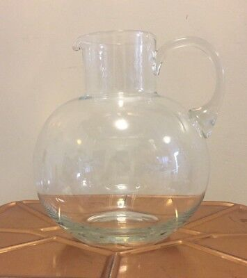 Signed Tiffany & Co. Refresher Crystal Glass Pitcher