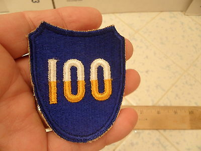 Wwii Ww2 Original U.s. Army 100Th Infantry Division Patch Cut Edge Patch