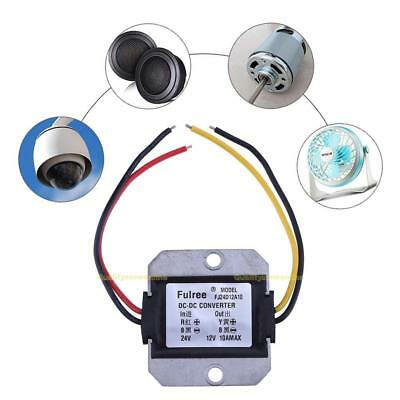 DC-DC 24V to 12V 10A Step-down Voltage Reducer Power Converter Module Waterproof