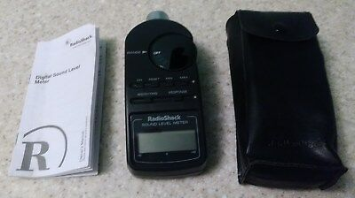 Radio Shack Digital Sound Level Meter, 33-2055, Case, Battery, Manual - WORKING