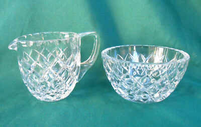 Vintage Crystal Sugar Bowl and Creamer Milk Jug
