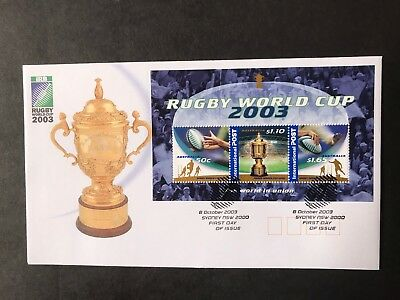 Australia 2003 Rugby World Cup Mini Sheet First Day Cover