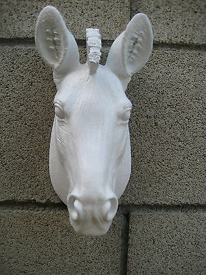 NEW SAFARI AFRICA WHITE ZEBRA WALL HEAD MOUNT Decor SCULPTURE STATUE
