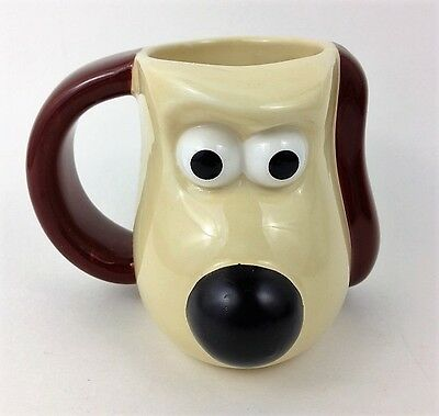 Wallace and GROMIT Shaped Figural Mug PG Tips Tea UK exclusive heat change nose