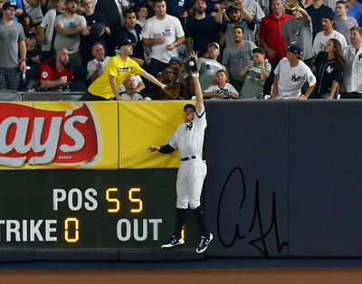 "Aaron Judge Signed Photo 8X10 Rp Auto Autographed New York Yankees "" The Catch """