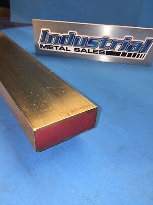 "1"" x 2"" x 12""-Long 360 Brass Flat Bar -->1"" x 2"" 360 Brass MILL STOCK"