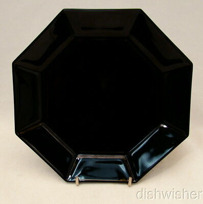 Arcoroc France OCTIME BLACK Luncheon/Dinner Plate(s) Pointed Octagon 9 7/8""