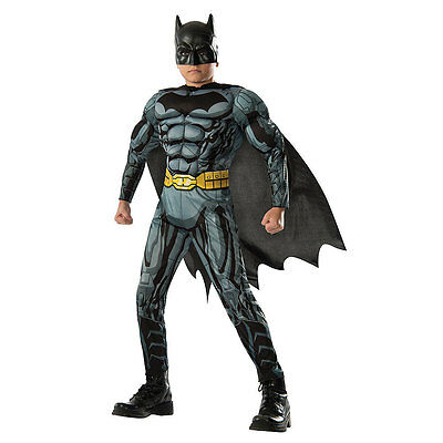 Justice League BATMAN Movie Deluxe Boys Child Costume Small 4-6 Years 3-4 NEW