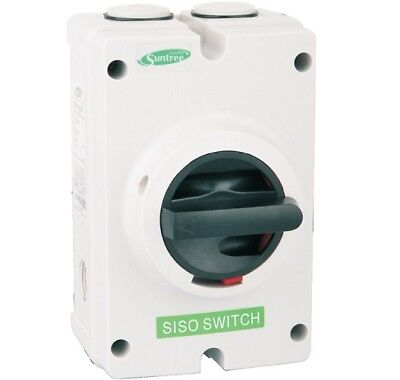 DC Isolator Switch 32A 1200V 4 Pole SISO-32 (Solar Systems)